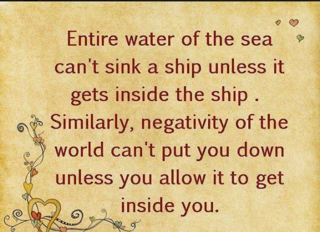 Negativity: don't let it sink your ship